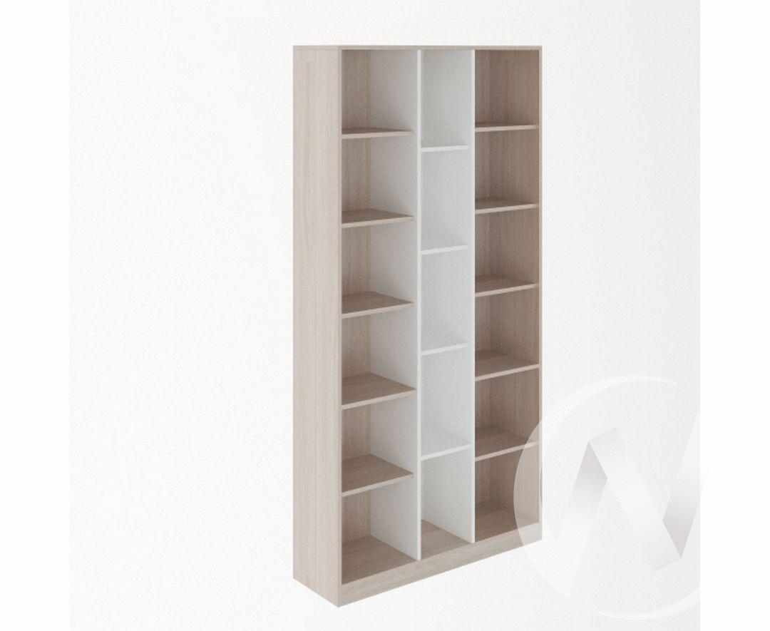 Стеллаж комбинированный 1000 М7 Остин (ясень шимо светлый/белый)
