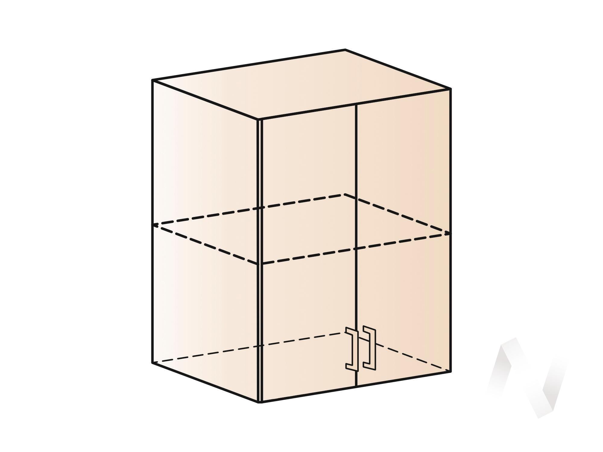 """Кухня """"Люкс"""": Шкаф верхний 600, ШВ 600 (Гобелен шампань/корпус белый) в Томске — авторская мебель Экостиль"""