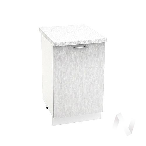 """Кухня """"Валерия-М"""": Шкаф нижний 500, ШН 500 (дождь серый/корпус белый)"""