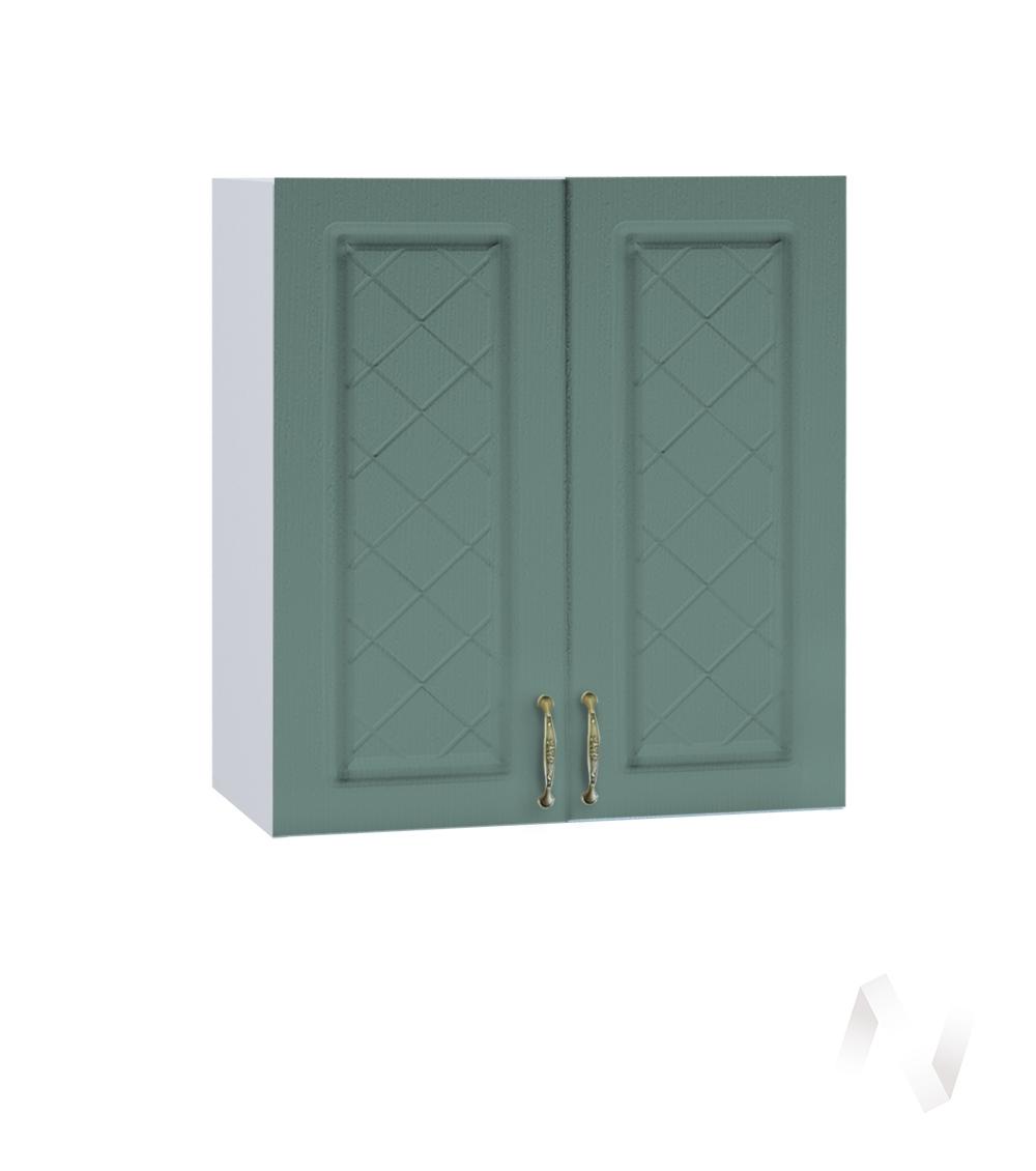 """Кухня """"Селена"""": Шкаф верхний 600, ШВ 600 (Дуб бирюзовый/корпус белый)"""