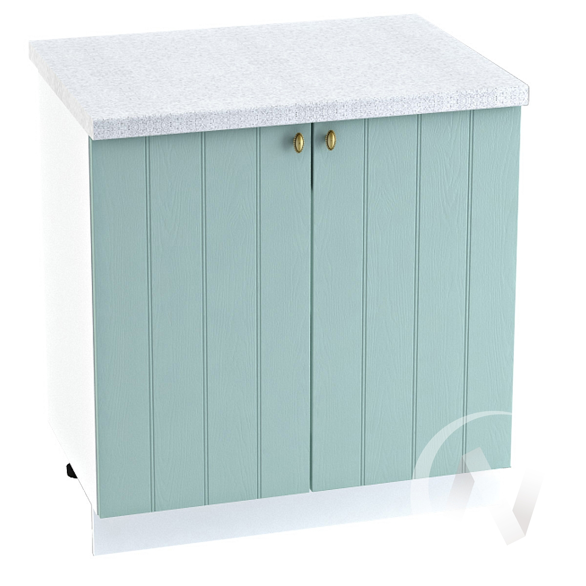 "Кухня ""Прованс"": Шкаф нижний 800, ШН 800 (голубой/корпус белый)"