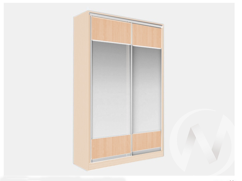 Шкаф-купе «Джонни» 2-х дверный Витрина (дуб сонома/ясень шимо светлый)