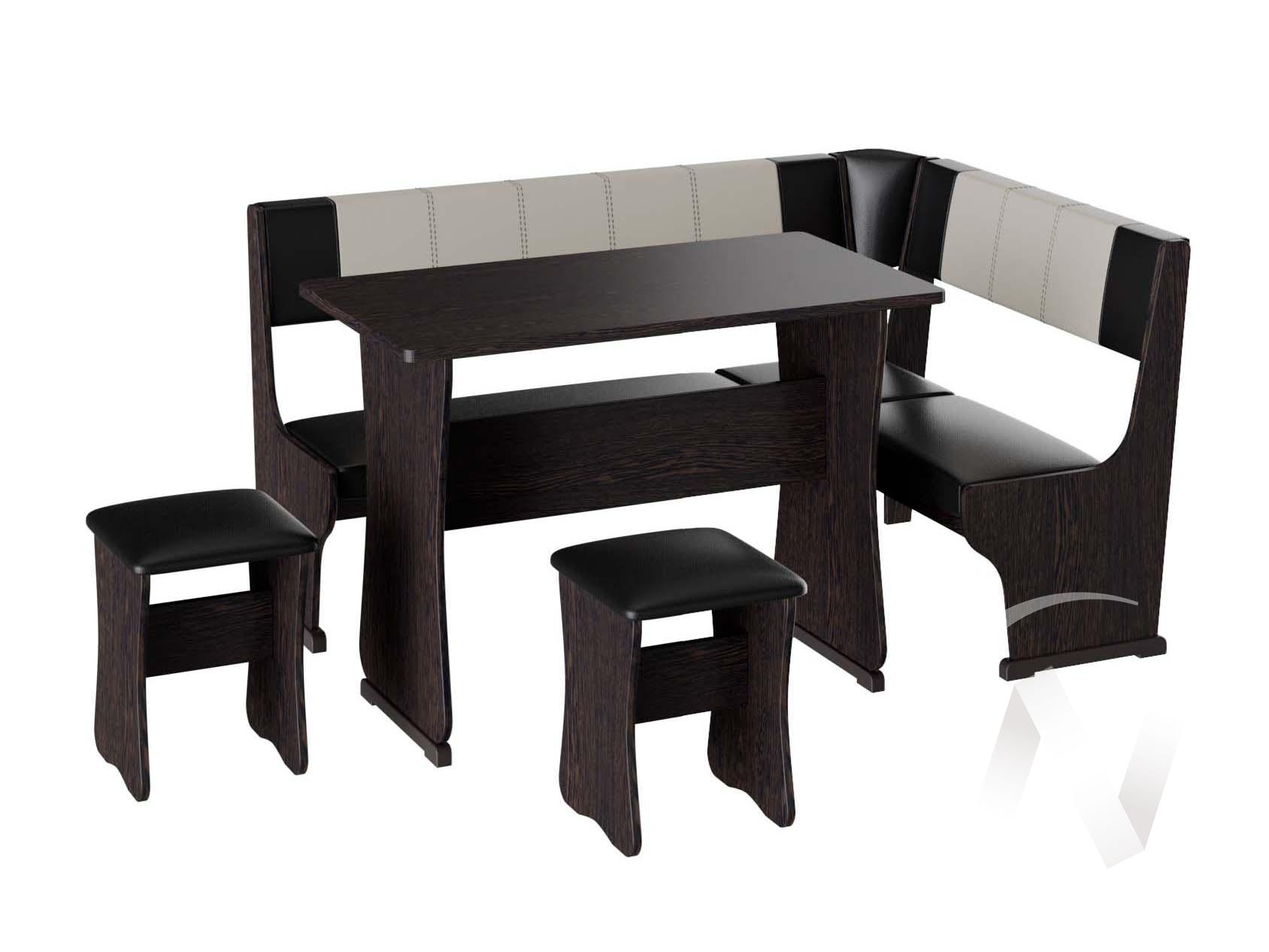 Кухонный уголок Гамма тип 1 кожзам (венге/шоколад,бежевый)  в Томске — интернет магазин МИРА-мебель