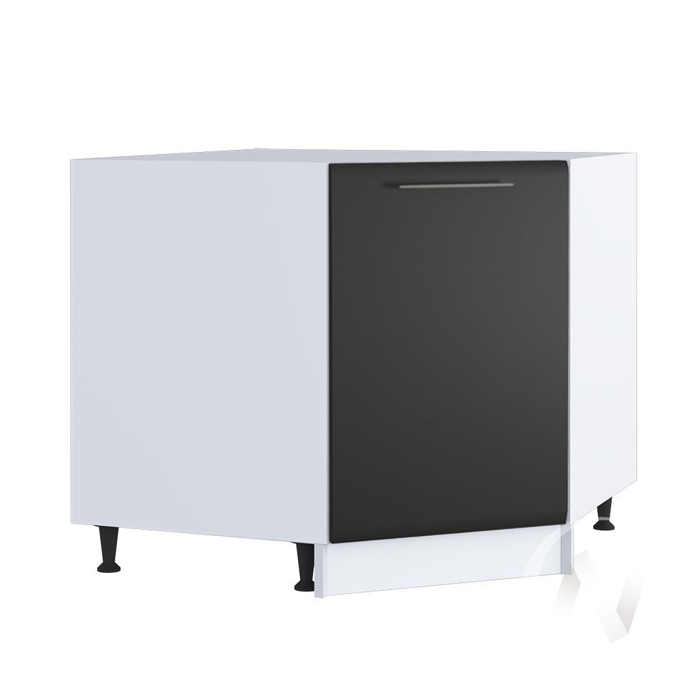 """Кухня """"Люкс"""": Шкаф нижний угловой 890, ШНУ 890 (Шелк венге/корпус белый)"""