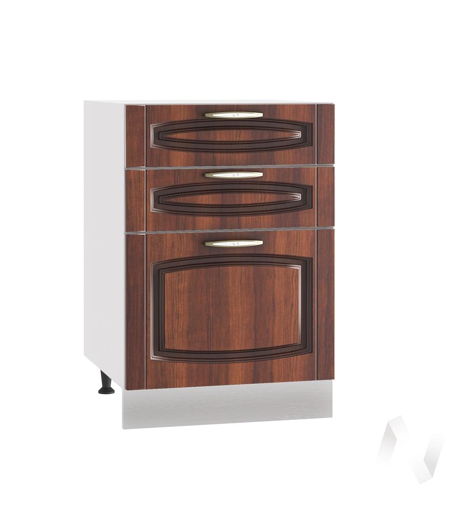 """Кухня """"Неаполь"""": Шкаф нижний с 3-мя ящиками 500, ШН3Я 500 (Италия/корпус белый)"""