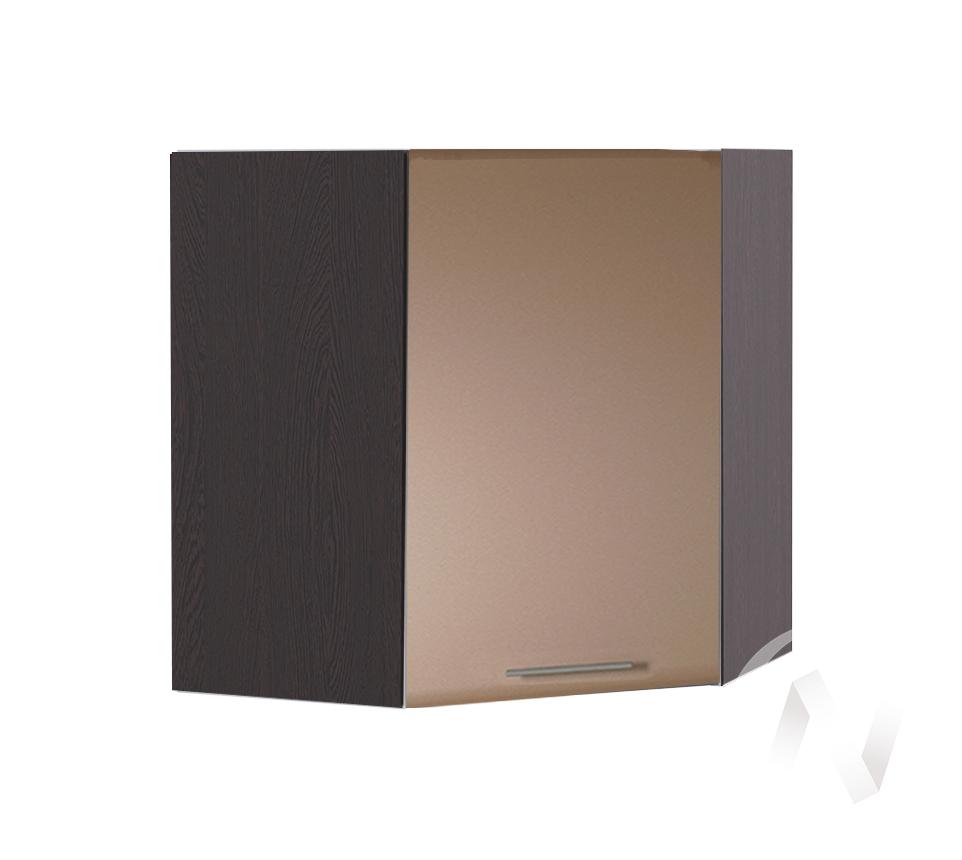 """Кухня """"Люкс"""": Шкаф верхний угловой 590, ШВУ 590 (Шоколад матовый/корпус венге)"""