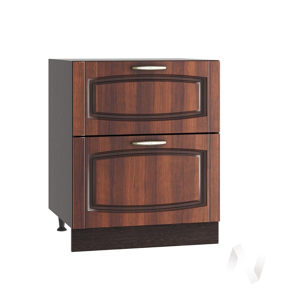 """Кухня """"Неаполь"""": Шкаф нижний с 2-мя ящиками 600, ШН2Я 600 (Италия/корпус венге)"""