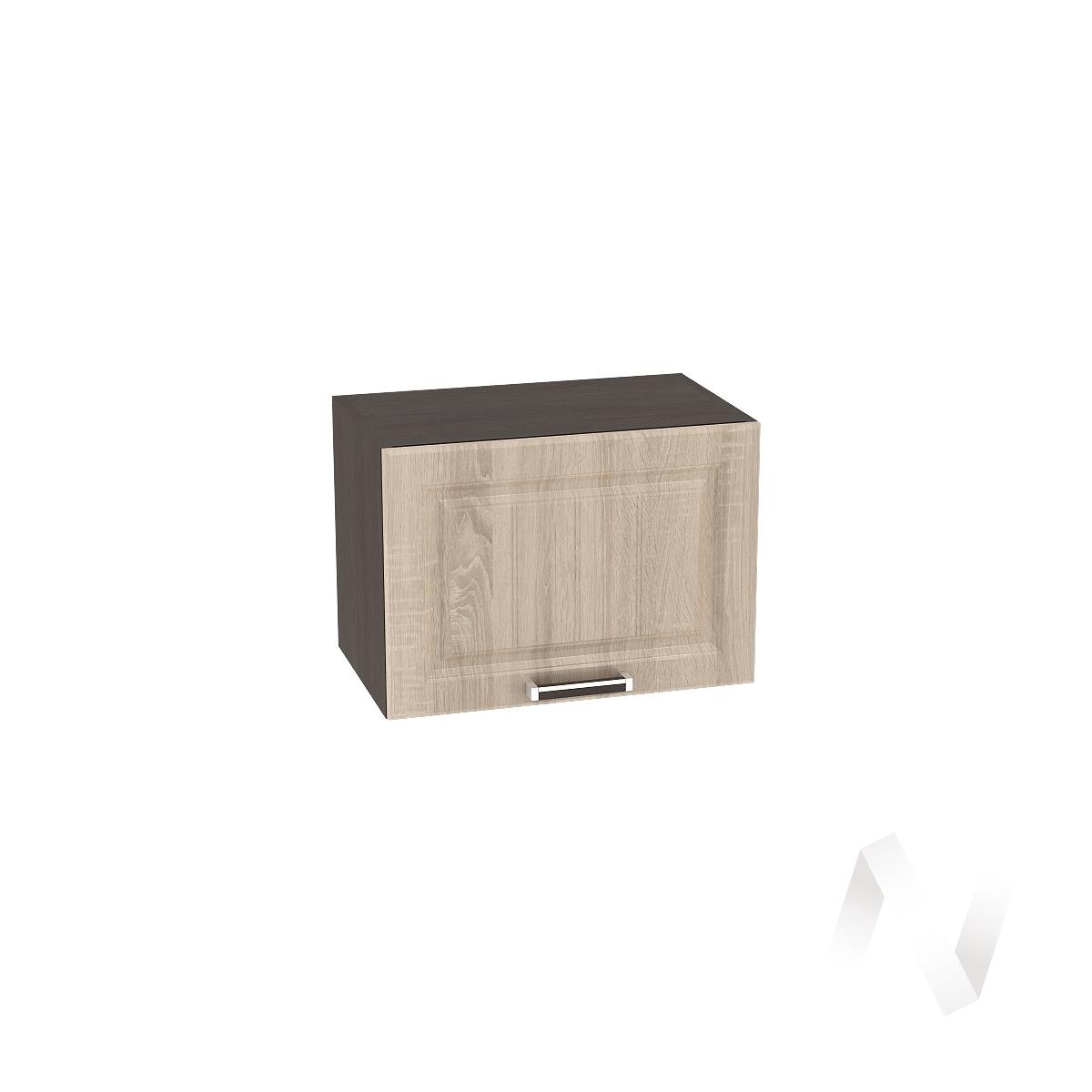 """Кухня """"Прага"""": Шкаф верхний горизонтальный 500, ШВГ 500 (дуб сонома/корпус венге)"""