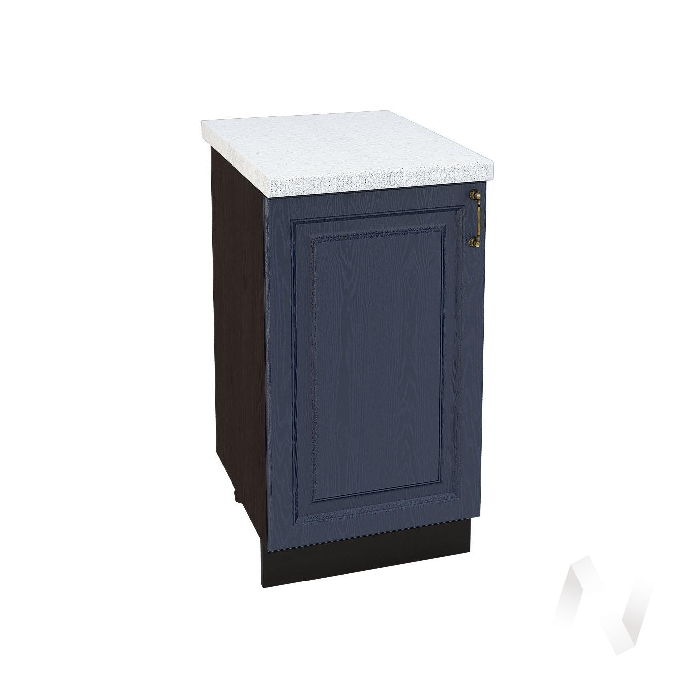 """Кухня """"Ницца"""": Шкаф нижний 450, ШН 450 (Дуб чернильный/корпус венге)"""