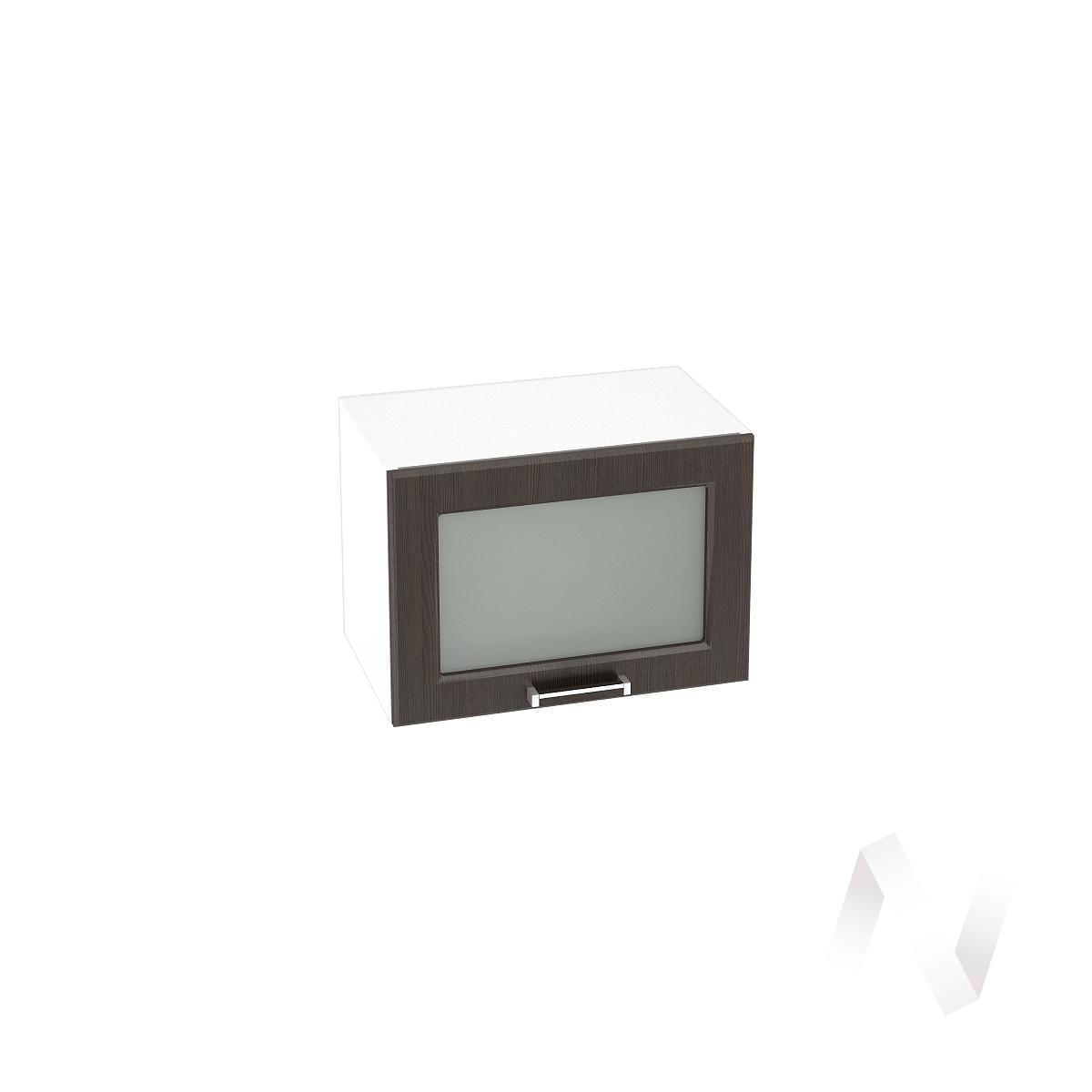 """Кухня """"Прага"""": Шкаф верхний горизонтальный со стеклом 500, ШВГС 500 (венге/корпус белый)"""