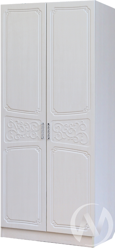 Спальня Тиффани Шкаф 2х створчатый 0,9 (бодега/рельеф пастель)