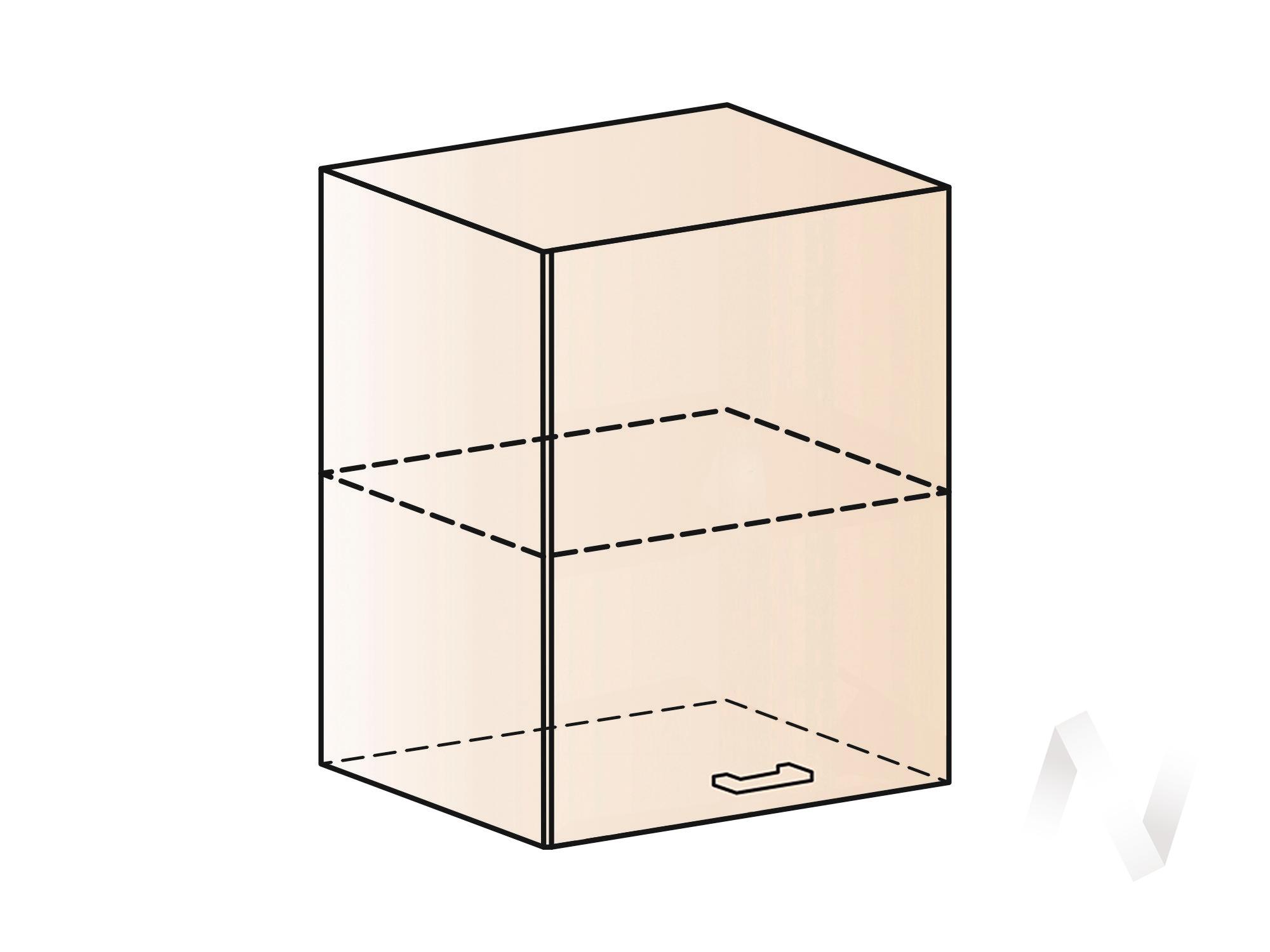 """Кухня """"Валерия-М"""": Шкаф верхний с одной дверью 600, ШВ 600 (лайм глянец/корпус венге)"""