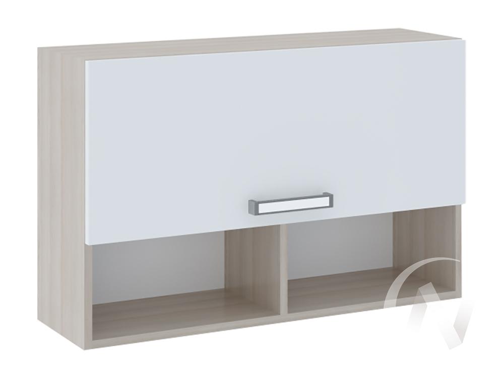 Полка 2 Walker М11 (ясень шимо светлый/белый)  в Томске — интернет магазин МИРА-мебель