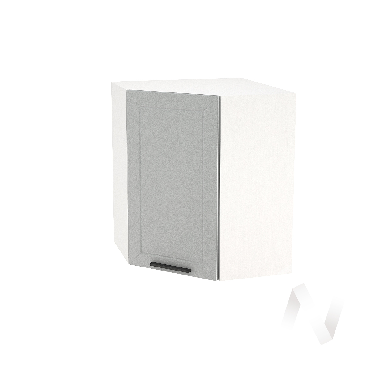 """Кухня """"Глетчер"""": Шкаф верхний угловой 590, ШВУ 590 (Гейнсборо Силк/корпус белый)"""