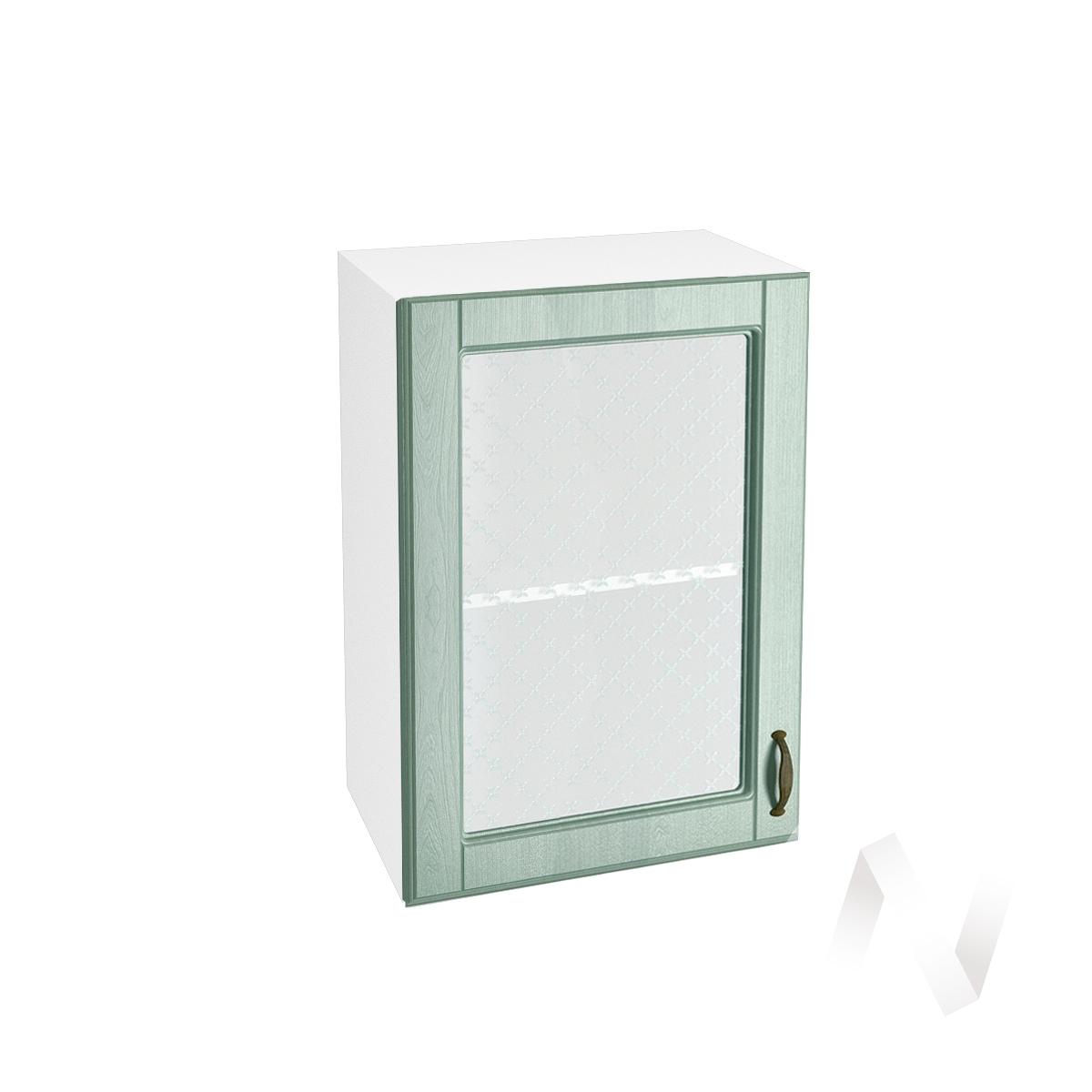 "Кухня ""Прованс"": Шкаф верхний со стеклом 500, ШВС 500 (корпус белый)"