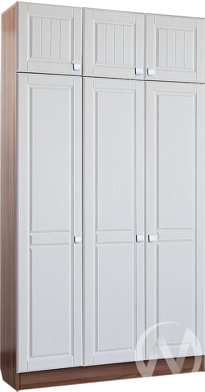 Шкаф 3х створчатый Прихожая Вега (ясень шимо темный-рельеф пастель)  в Томске — интернет магазин МИРА-мебель