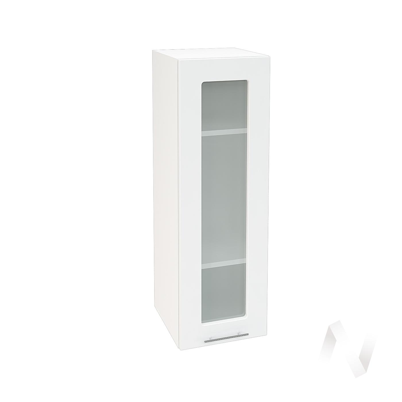 """Кухня """"Валерия-М"""": Шкаф верхний со стеклом 309, ШВС 309 (белый глянец/корпус белый)"""