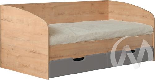 Скай М14 Кровать с ящиками 800*2000 (дуб бунратти/графит)