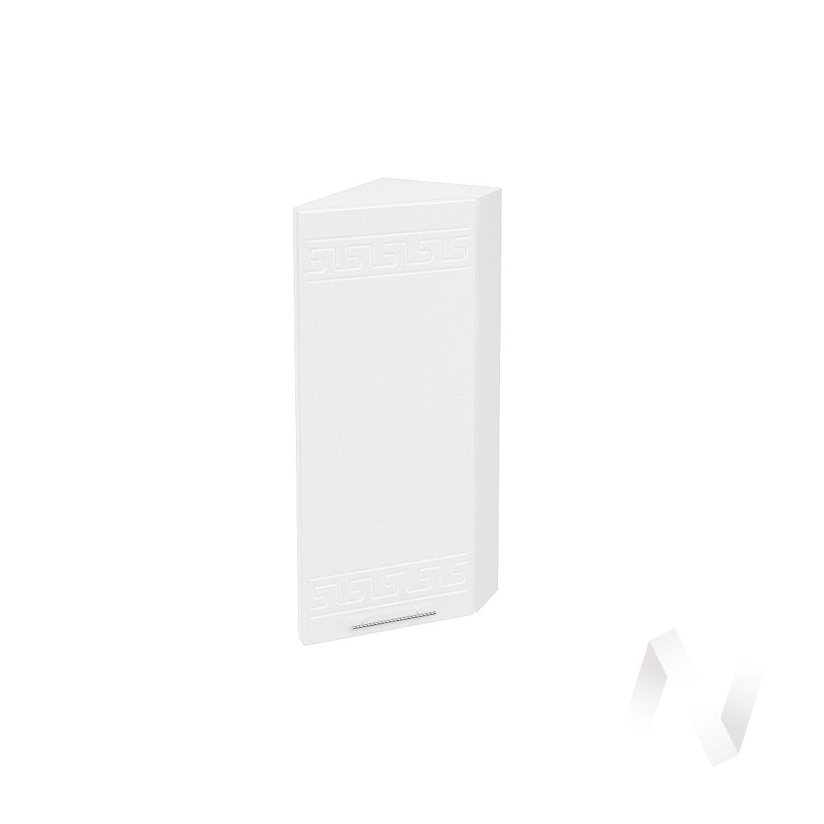"Кухня ""Греция"": Шкаф верхний торцевой 224, ШВТ 224 (белый металлик/корпус белый)"