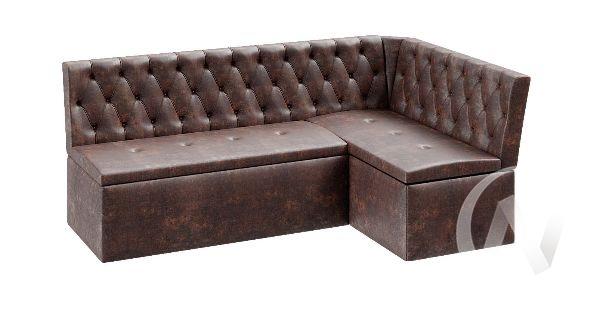 Скамья угловая со спальным местом Квадро тип 1 Классик ткань (венге/коричневый)