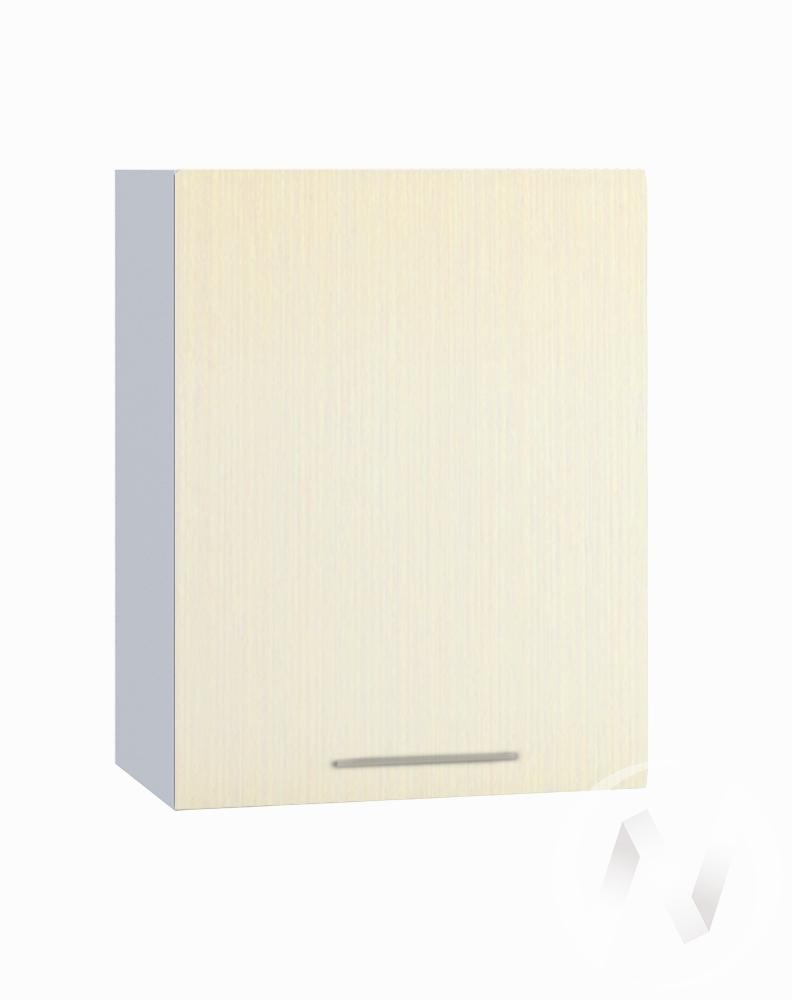"""Кухня """"Люкс"""": Шкаф верхний 500, ШВ 500 (Шелк жемчуг/корпус белый)"""