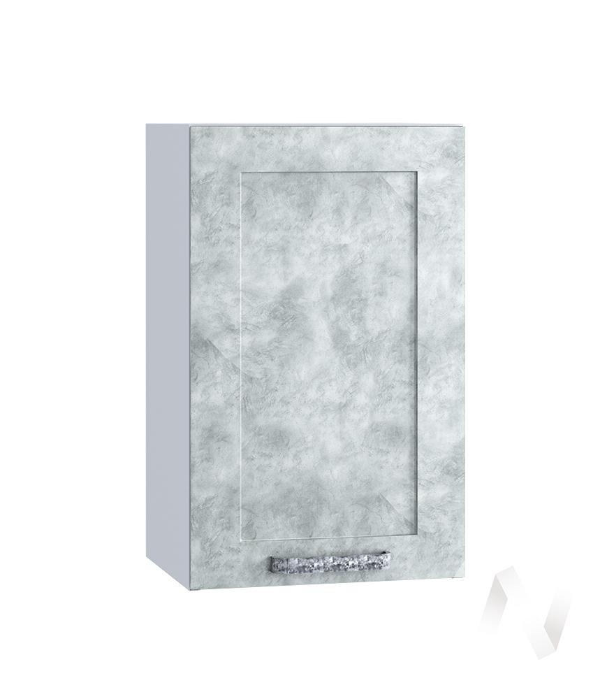 "Кухня ""Лофт"": Шкаф верхний 400, ШВ 400 (Бетон серый/корпус белый)"