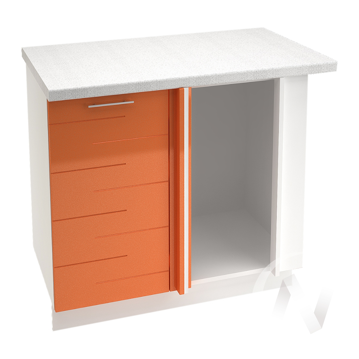 """Кухня """"Техно"""": Шкаф нижний угловой 990М, ШНУ 990М (корпус белый)"""