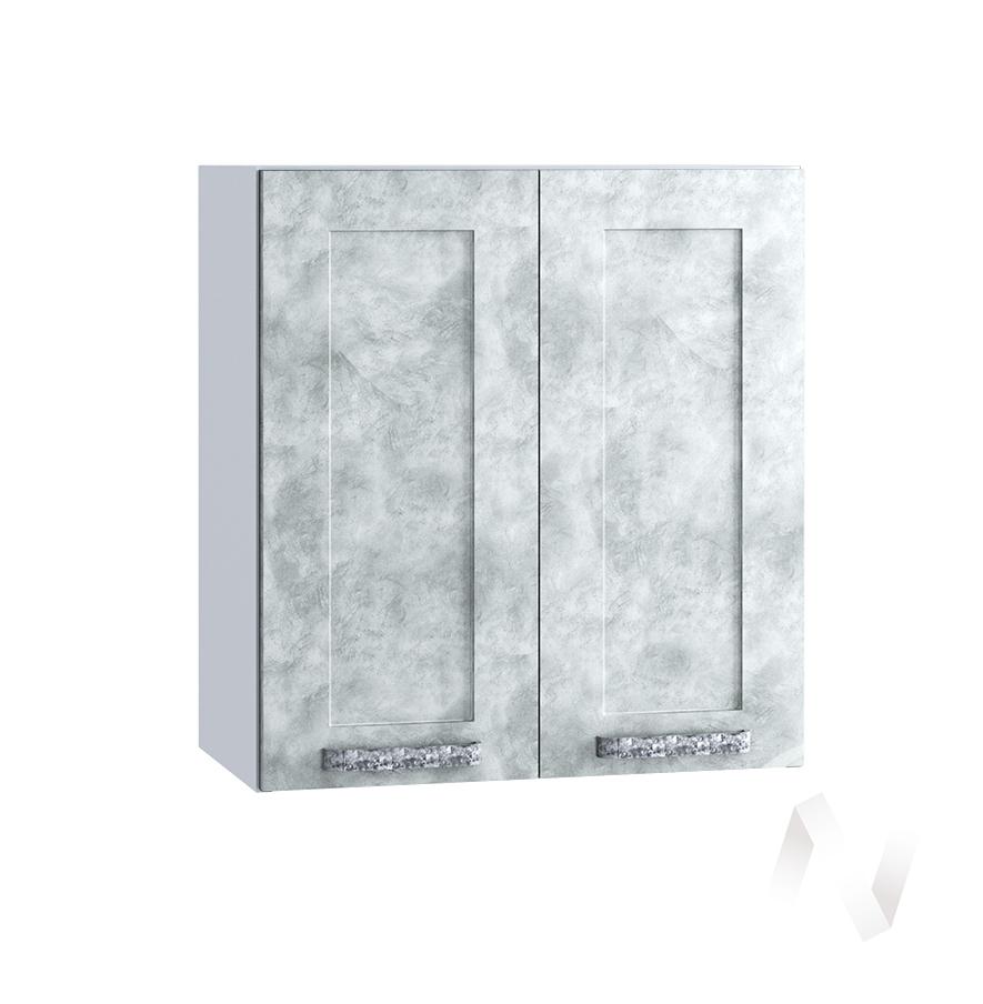 "Кухня ""Лофт"": Шкаф верхний 600, ШВ 600 (Бетон серый/корпус белый)"