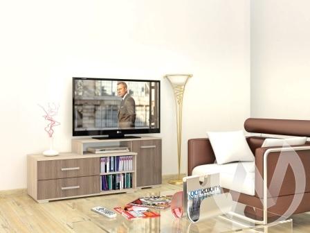 Тумба TV Парус-3 (дуб сонома/ясень шимо)  в Томске — интернет магазин МИРА-мебель