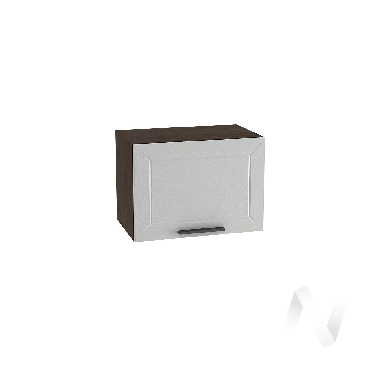 """Кухня """"Глетчер"""": Шкаф верхний горизонтальный 500, ШВГ 500 (Гейнсборо Силк/корпус венге)"""