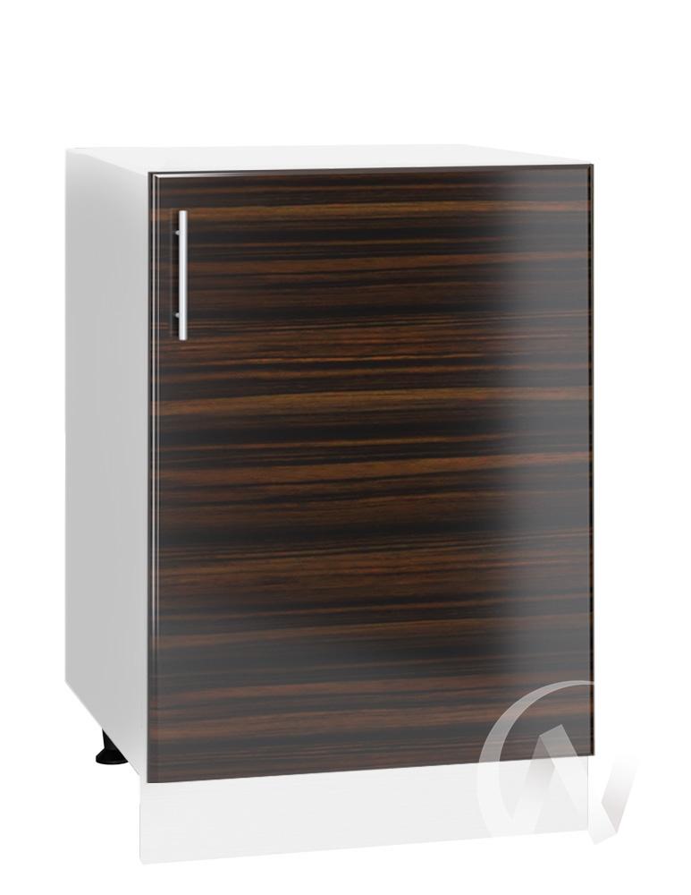 "Кухня ""Норден"": Шкаф нижний 500, ШН 500 (эбен/корпус белый)"