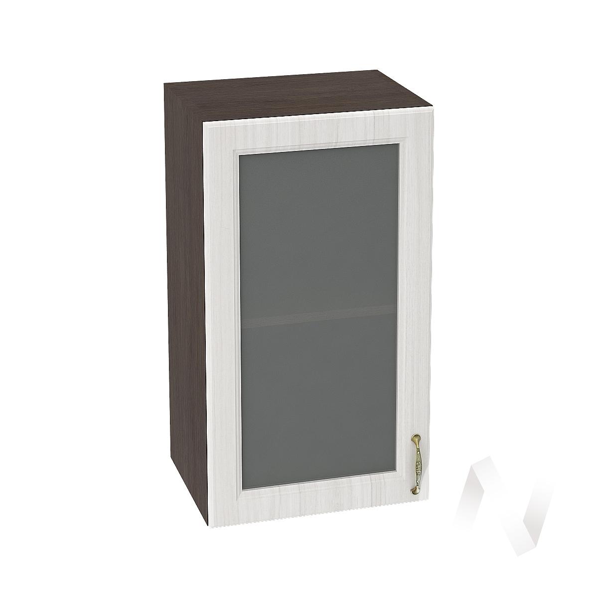 """Кухня """"Виктория"""": Шкаф верхний со стеклом 400, ШВС 400 (корпус венге)"""