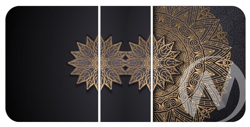 Стол раздвижной Норд 4 (черный/фотопечать S-249/металлокаркас черный) в Томске — авторская мебель Экостиль