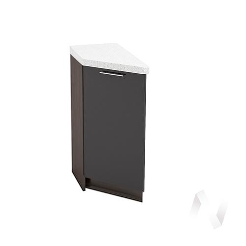 """Кухня """"Валерия-М"""": Шкаф нижний торцевой 300, ШНТ 300 (черный металлик/корпус венге)"""