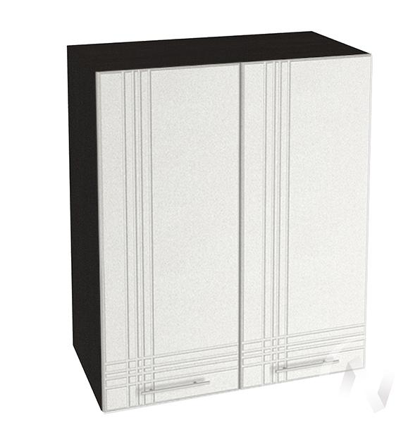 """Кухня """"Струна"""": Шкаф верхний 600, ШВ 600 (белый металлик/корпус венге)"""