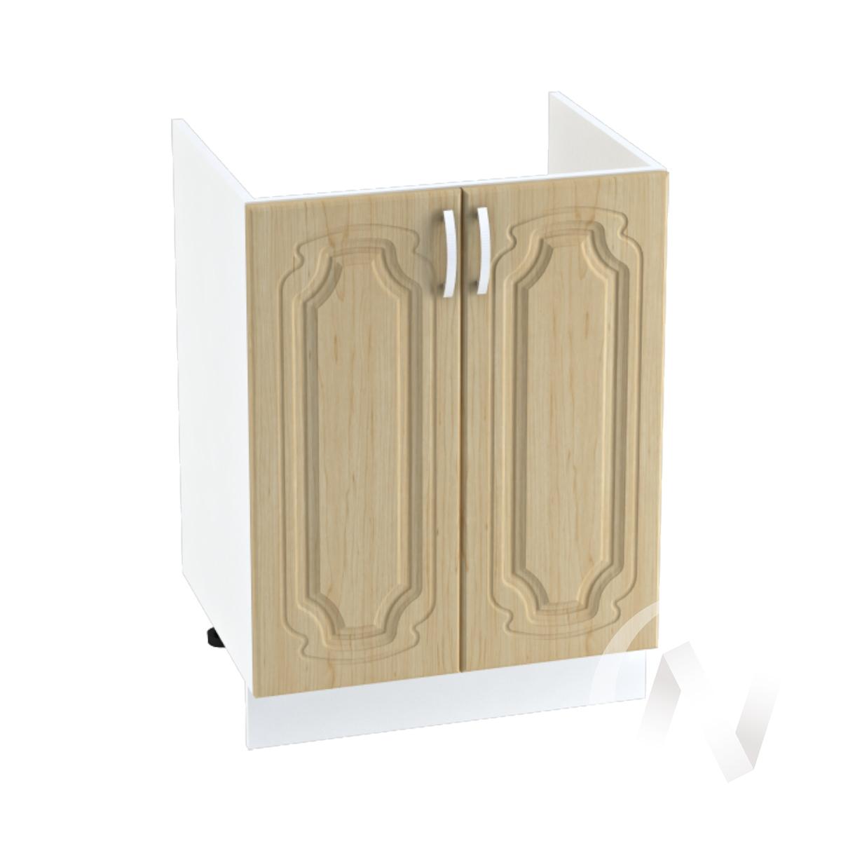 """Кухня """"Настя"""": Шкаф нижний под мойку 600, ШНМ 600 (Береза/корпус белый)"""