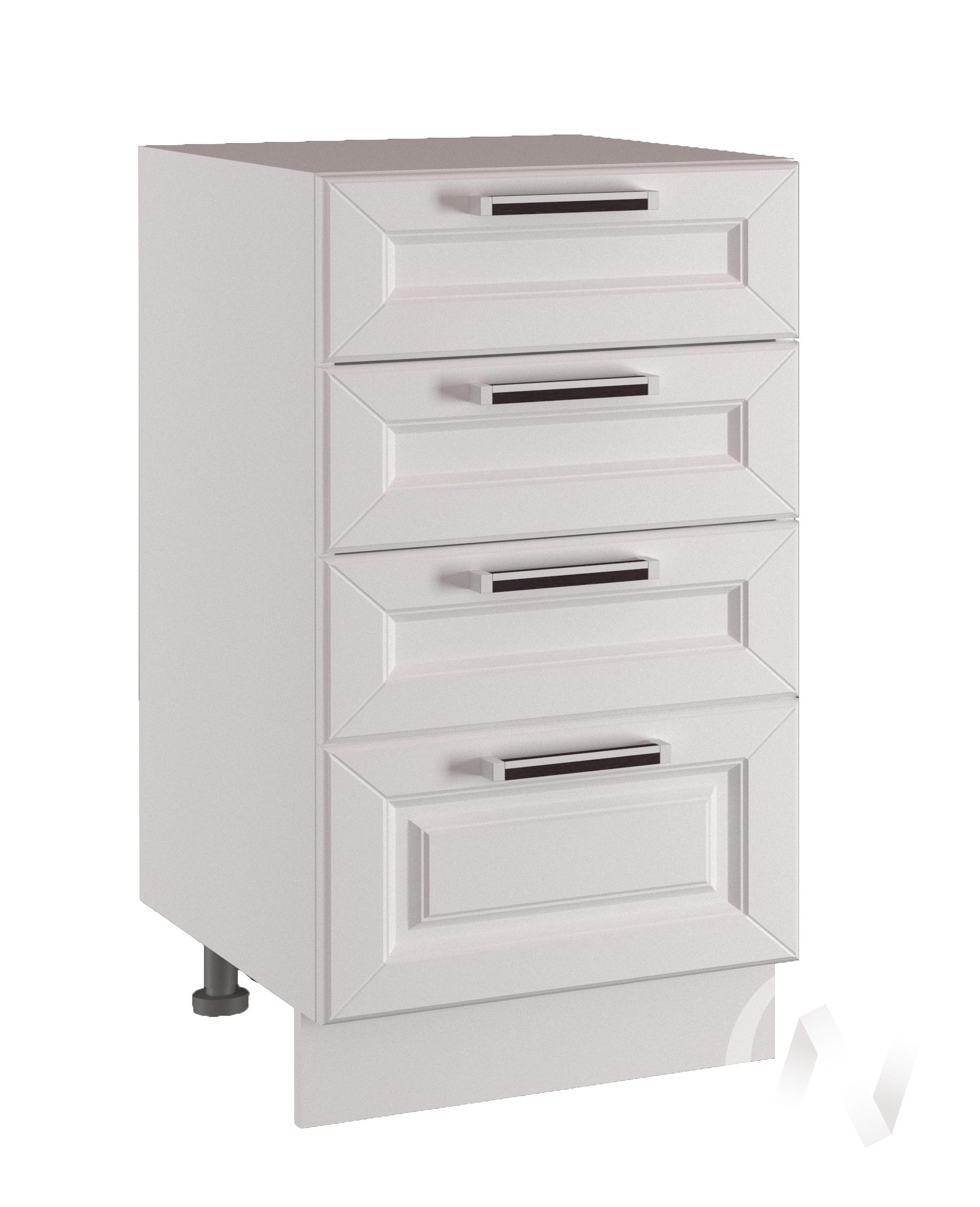"Кухня ""Вена"": Шкаф нижний с 4-мя ящиками 300, ШН4Я 300 (корпус белый)"