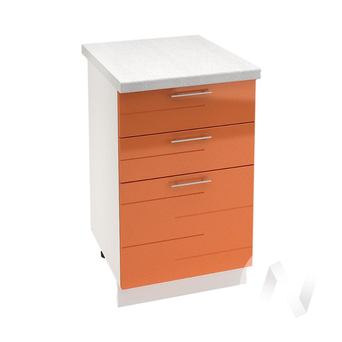 """Кухня """"Техно"""": Шкаф нижний с 3-мя ящиками 500, ШН3Я 500 (корпус белый)"""