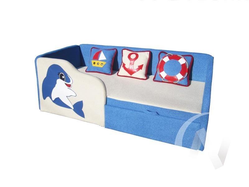 Дельфин диван детский левый  в Томске — интернет магазин МИРА-мебель