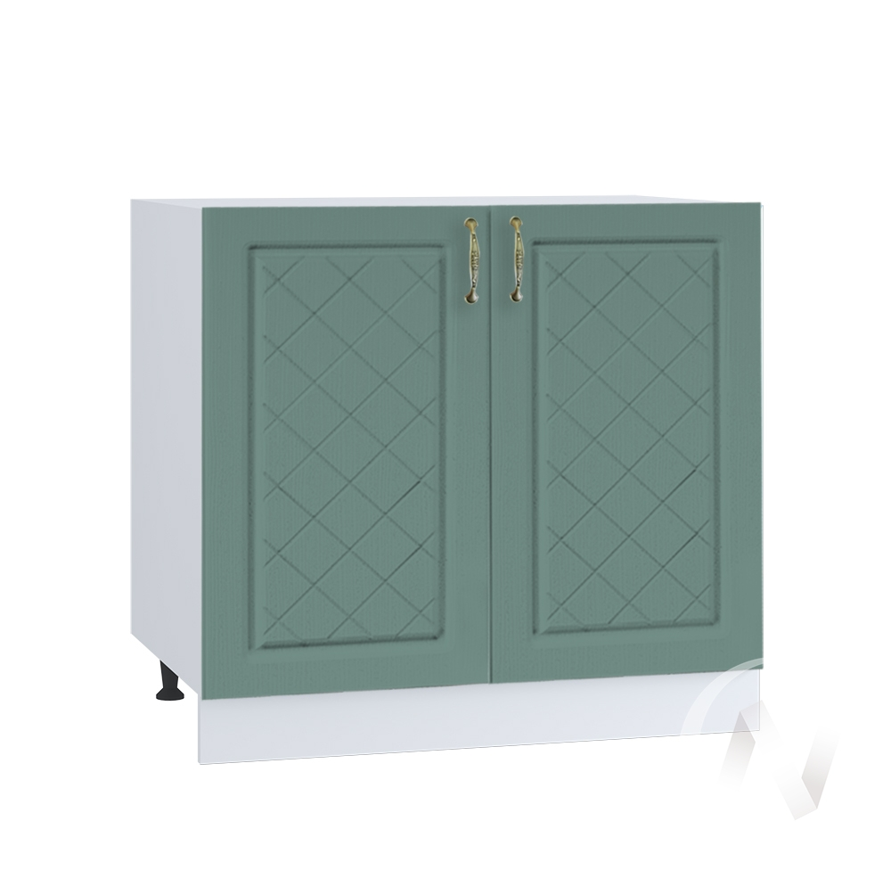 "Кухня ""Селена"": Шкаф нижний 800, ШН 800 (Дуб бирюзовый/корпус белый)"