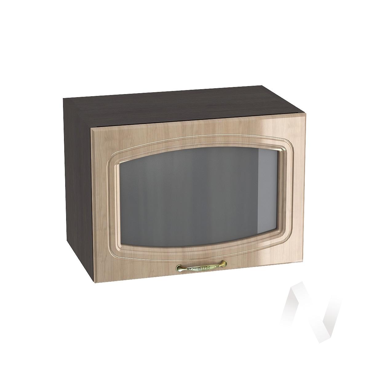 """Кухня """"Сити"""": Шкаф верхний горизонтальный со стеклом 500, ШВГС 500 (корпус венге)"""