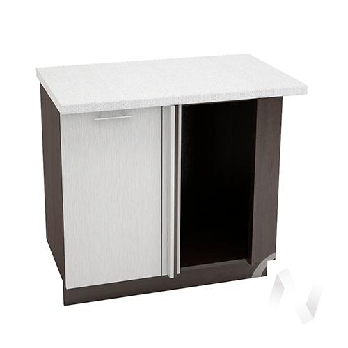 """Кухня """"Валерия-М"""": Шкаф нижний угловой 990М, ШНУ 990М (дождь серый/корпус венге)"""