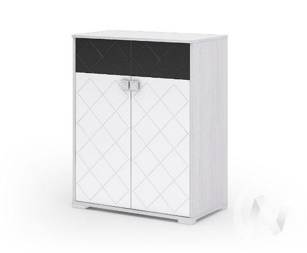 Комод КМ 022 Спальня Сальма (анкор/белый глянец)
