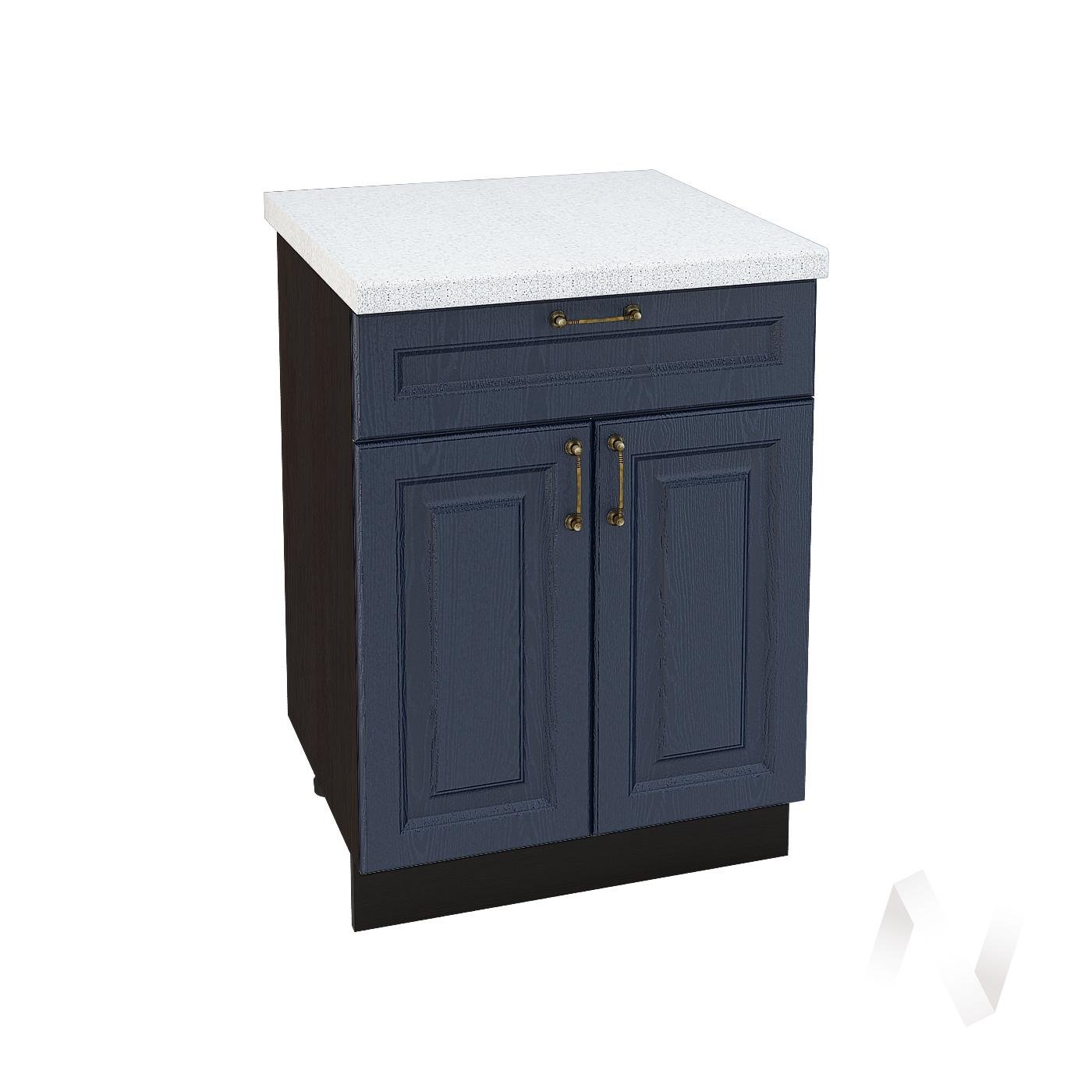 """Кухня """"Ницца"""": Шкаф нижний с ящиком 600, ШН1Я 600 М (Дуб чернильный/корпус венге)"""