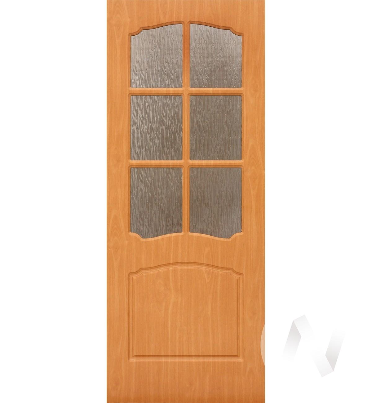 Дверь ПВХ Тип Азалия, 90, ост, миланский орех