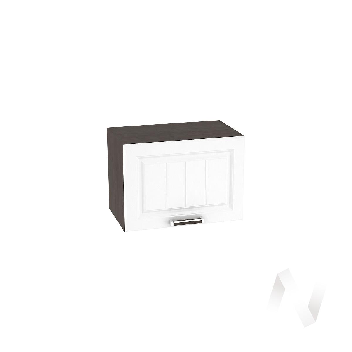 """Кухня """"Прага"""": Шкаф верхний горизонтальный 500, ШВГ 500 (белое дерево/корпус венге)"""