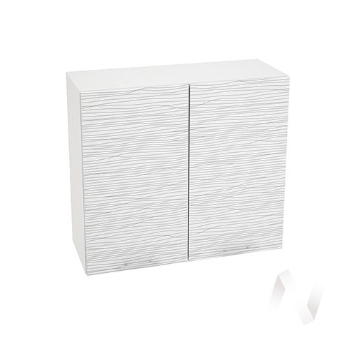 "Кухня ""Валерия-М"": Шкаф верхний 800, ШВ 800 (Страйп белый/корпус белый)"