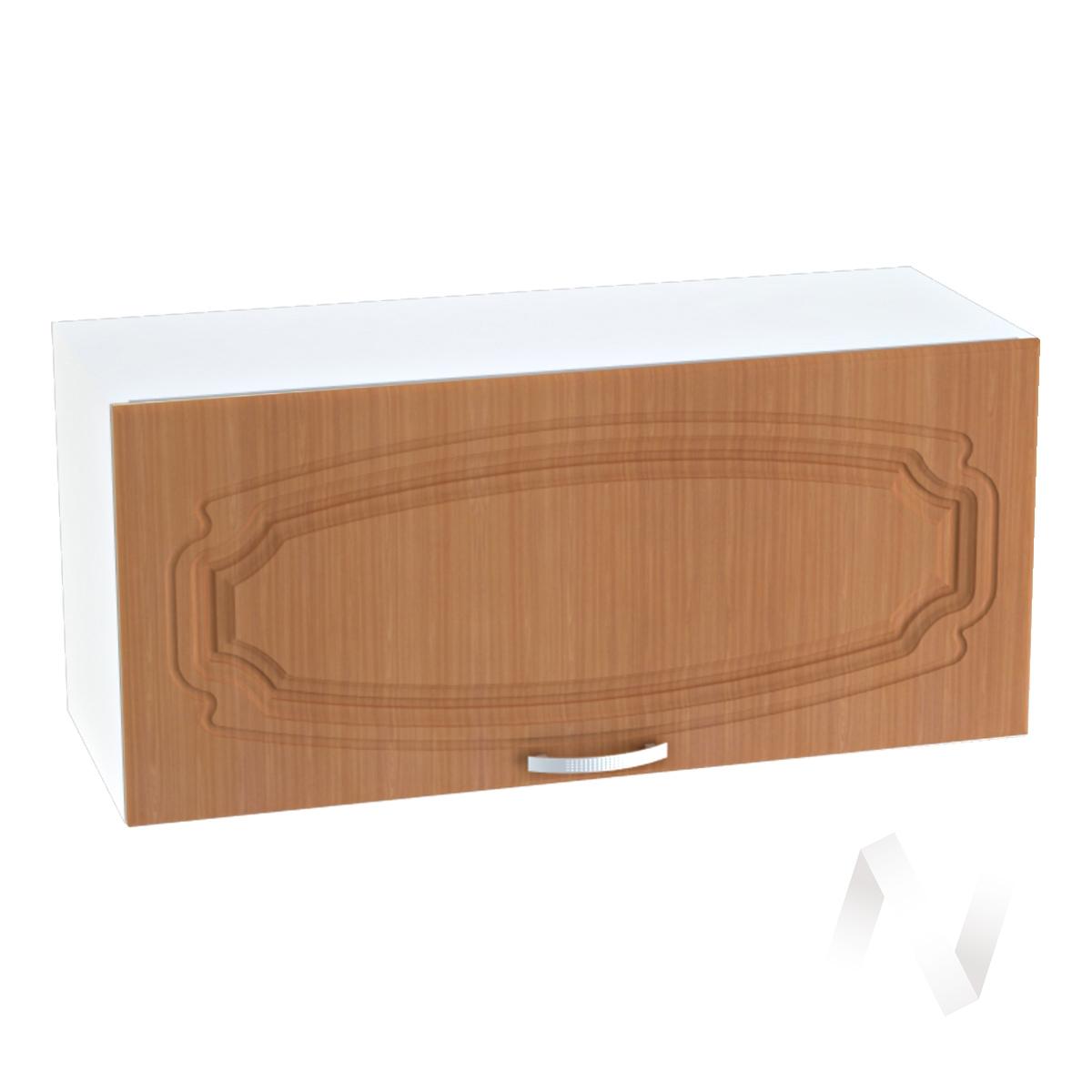 """Кухня """"Настя"""": Шкаф верхний горизонтальный 800, ШВГ 800 (Орех миланский/корпус белый)"""