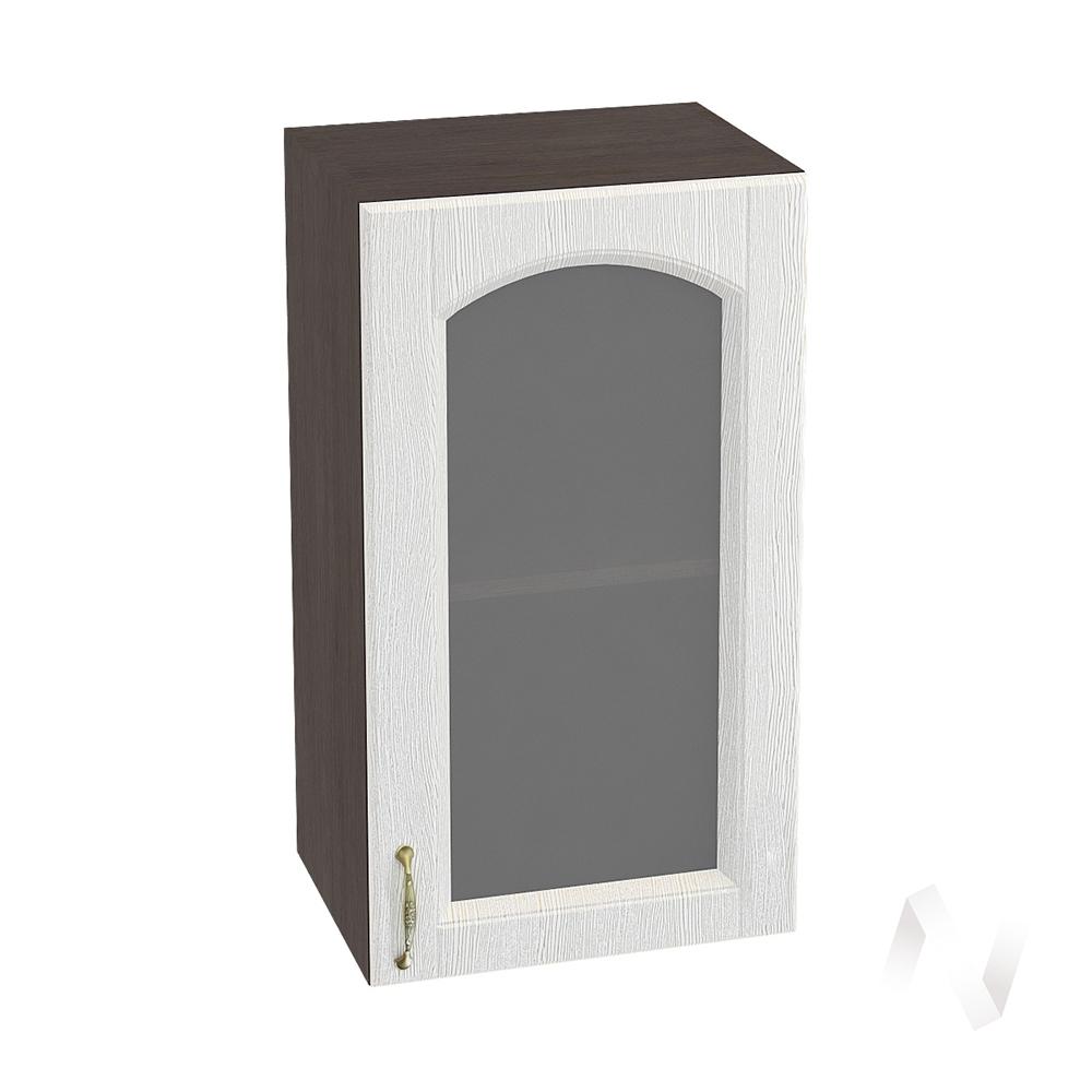 """Кухня """"Верона"""": Шкаф верхний со стеклом 400 правый, ШВС 400 (ясень золотистый/корпус венге)"""