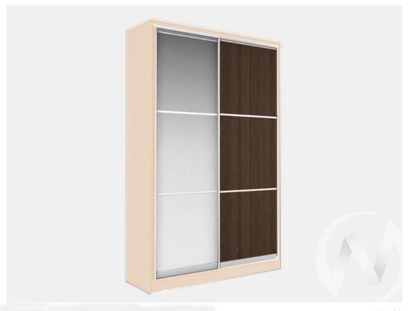 Шкаф-купе «Джонни» 2-х дверный фасад тройной с зеркалом (дуб сонома/венге)
